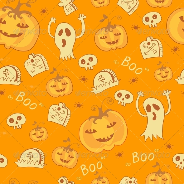 Pattern with Halloween Objects. - Patterns Decorative