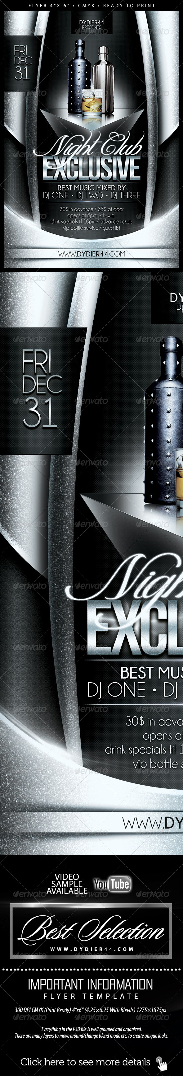 Nightclub Exclusive (Flyer Template 4x6) - Flyers Print Templates