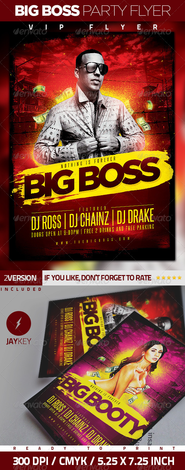 Big Boss Party Flyer - Clubs & Parties Events
