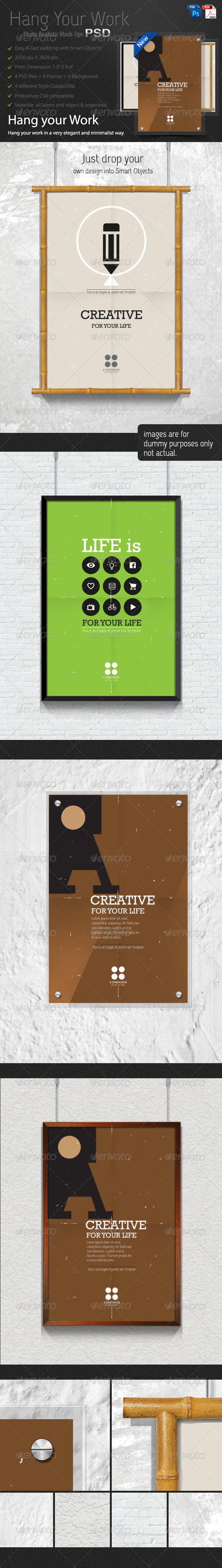 Hang Your Work - Posters Print