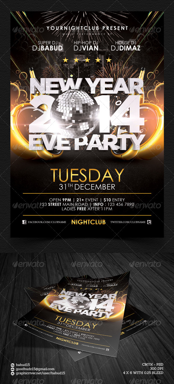 New Year Eve 2014 Flyer Template - Events Flyers