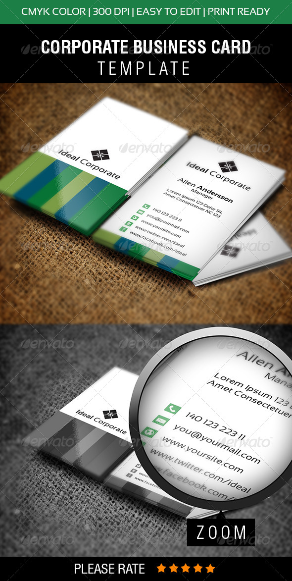 Ideal Corporate Business Card - Corporate Business Cards