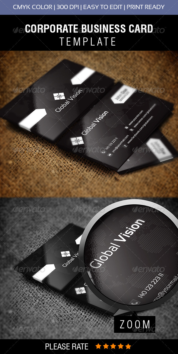 Global Vision Business Card - Corporate Business Cards