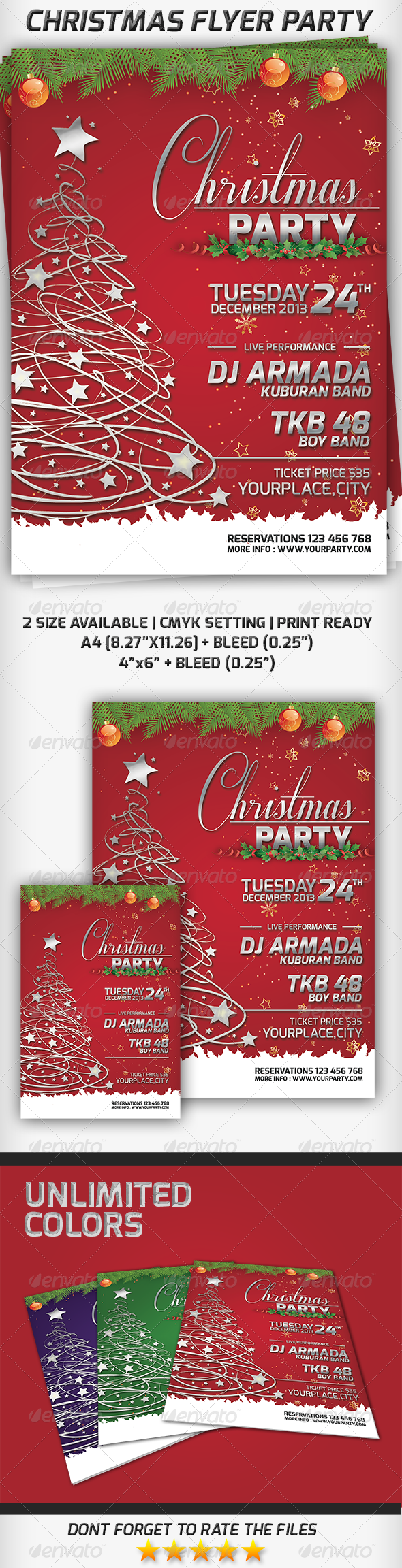 Christmas Flyer Party - Clubs & Parties Events