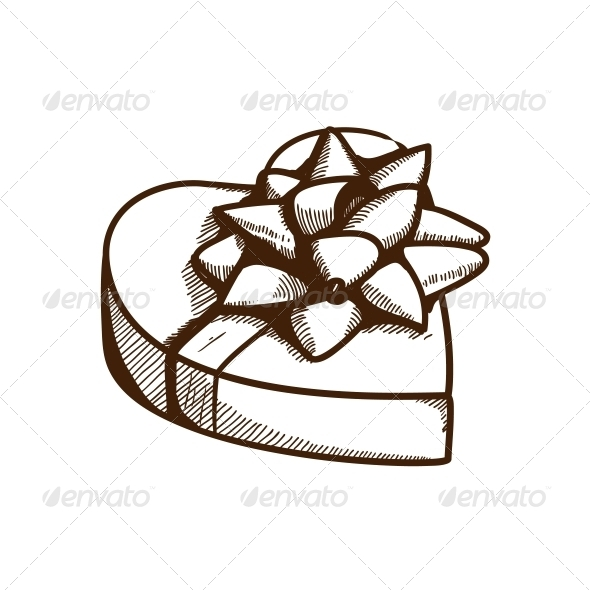 Present Box with Ribbon and Bow - Miscellaneous Seasons/Holidays
