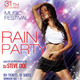 Rain Party Flyer - GraphicRiver Item for Sale