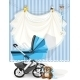 Baby Shower Blue Card - GraphicRiver Item for Sale