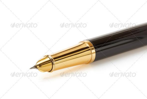 pen on white background - Stock Photo - Images