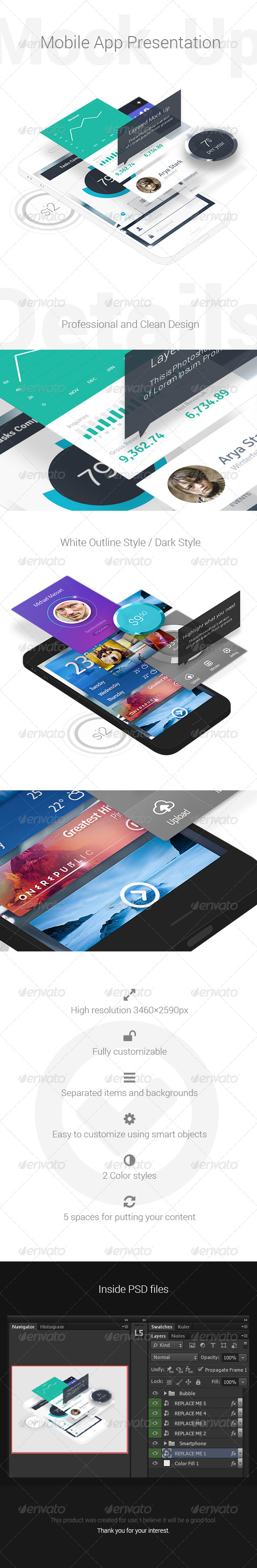 Mobile App Presentation Mock-Up by GoaShape | GraphicRiver