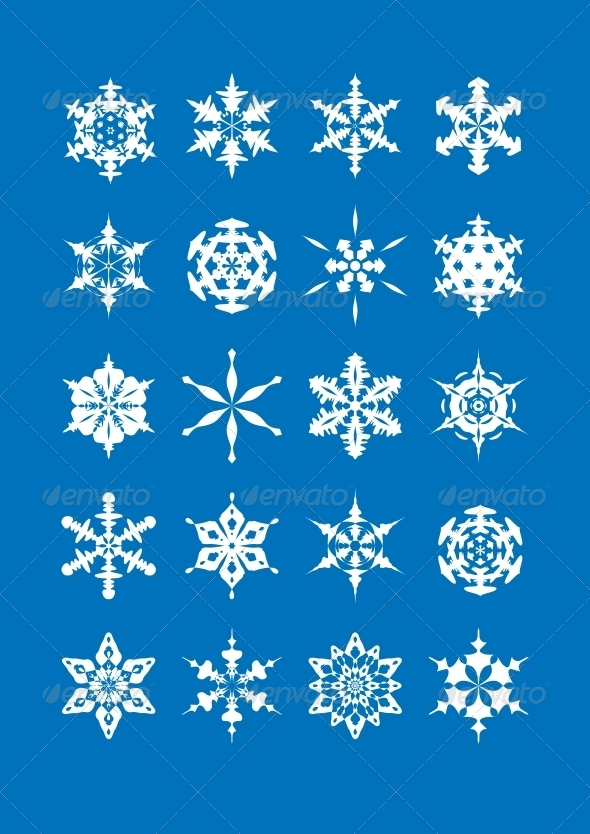Snowflake Set - Christmas Seasons/Holidays