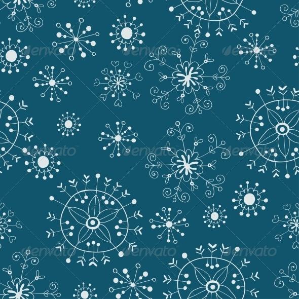 Snowflake Seamless Background - Patterns Decorative