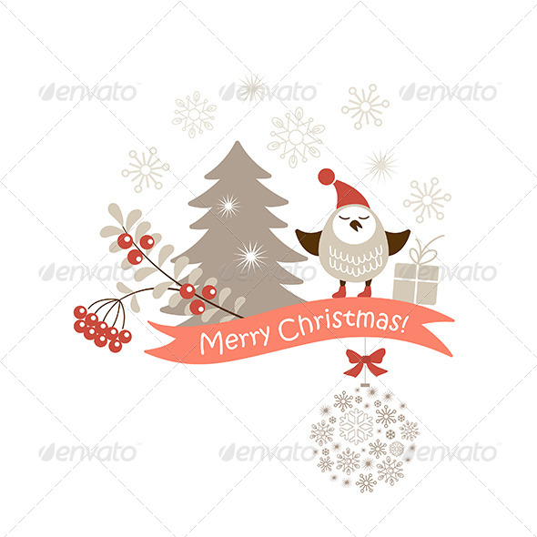 Christmas Vector Card - Christmas Seasons/Holidays