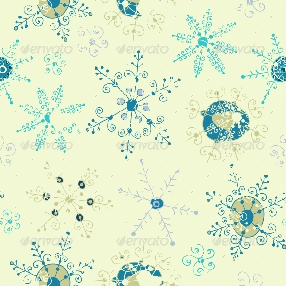 Ornate Snowflake Seamless Background - Patterns Decorative