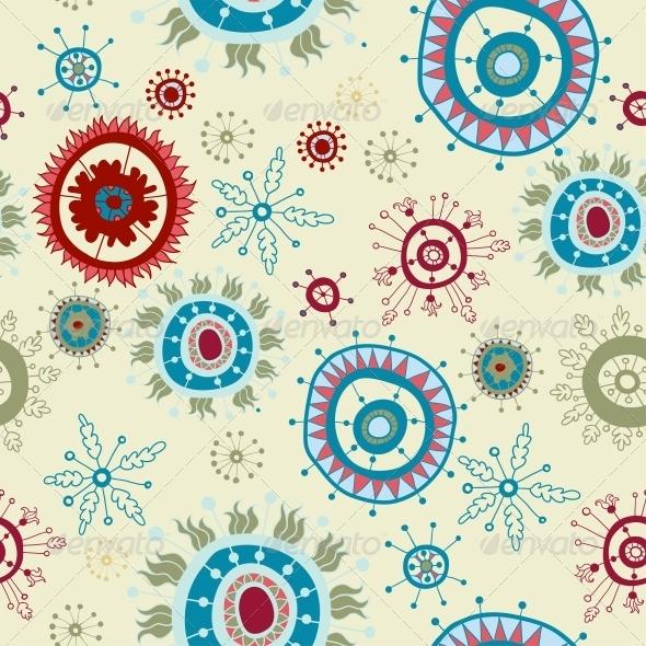 Ornate Snowflake Seamless Background - Patterns Decorative