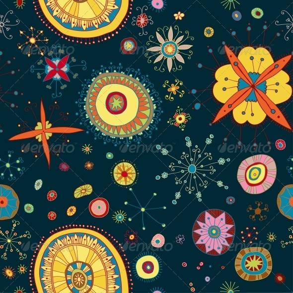 Ornate Floral Seamless Pattern - Patterns Decorative