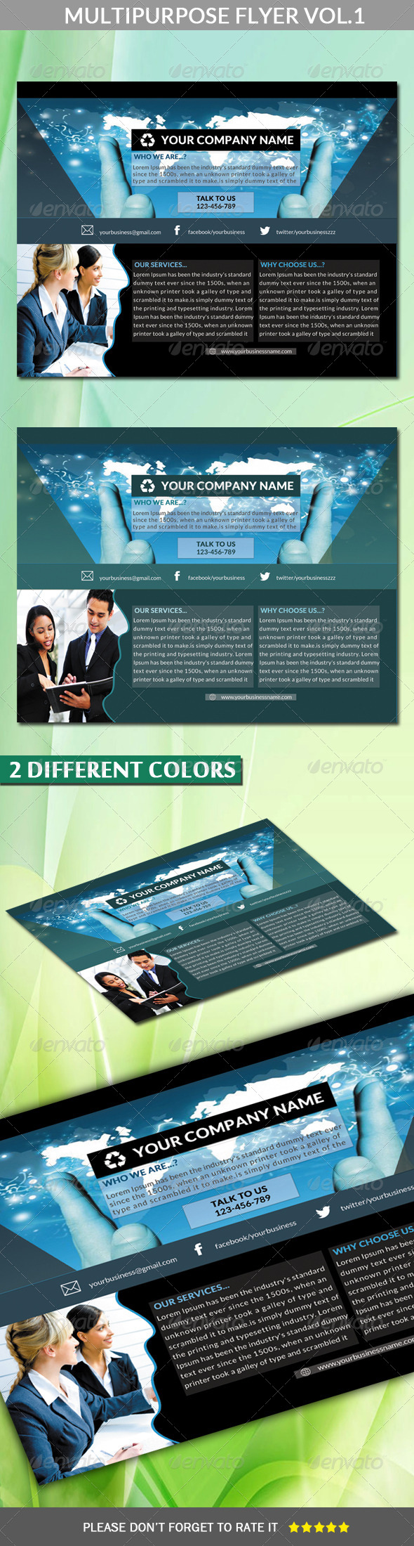 Multipurpose Flyer Vol.1 (Landscape) - Corporate Flyers