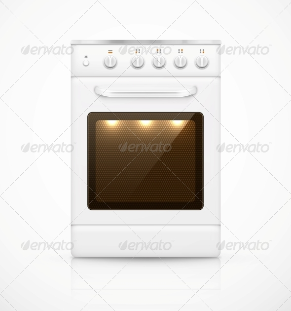 Isolated Gas Stove - Man-made Objects Objects