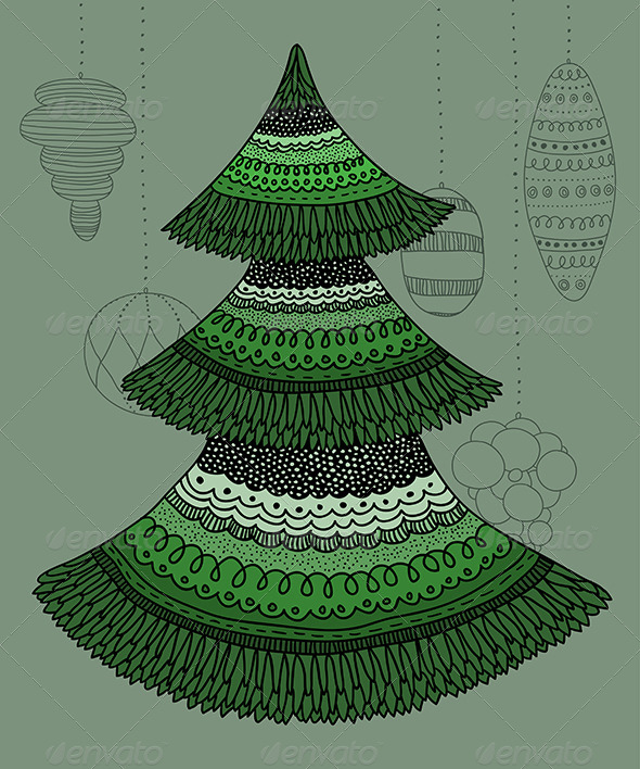 Decorative Christmas Tree - New Year Seasons/Holidays