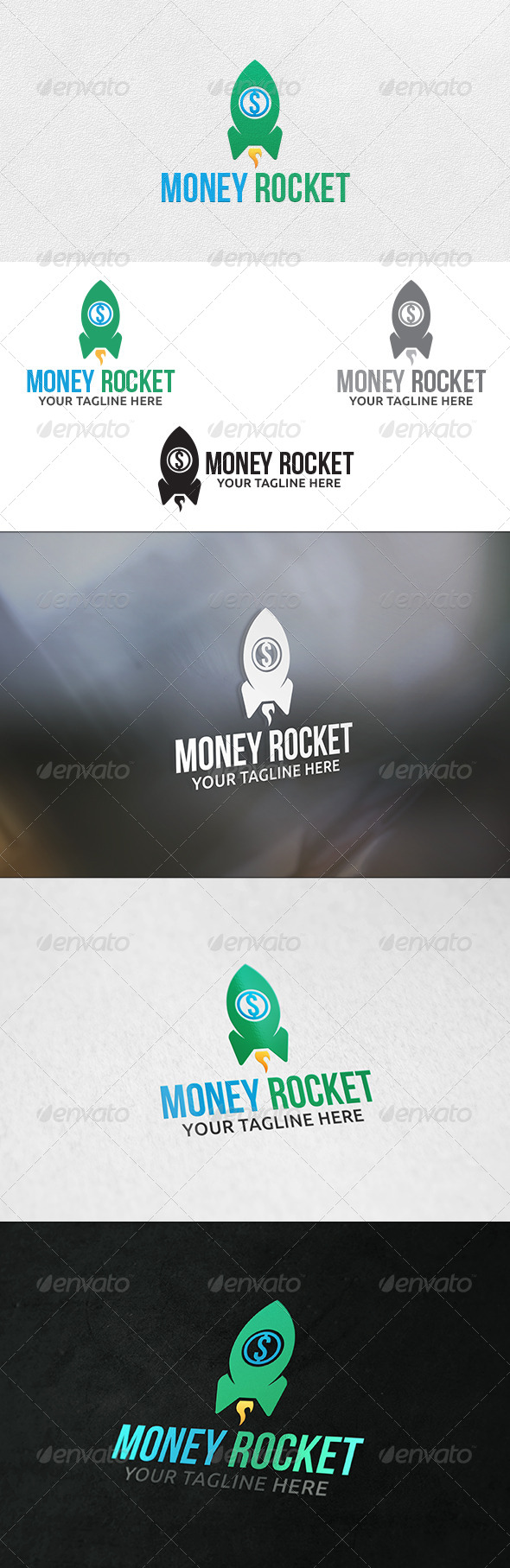 Money Rocket - Logo Template - Symbols Logo Templates