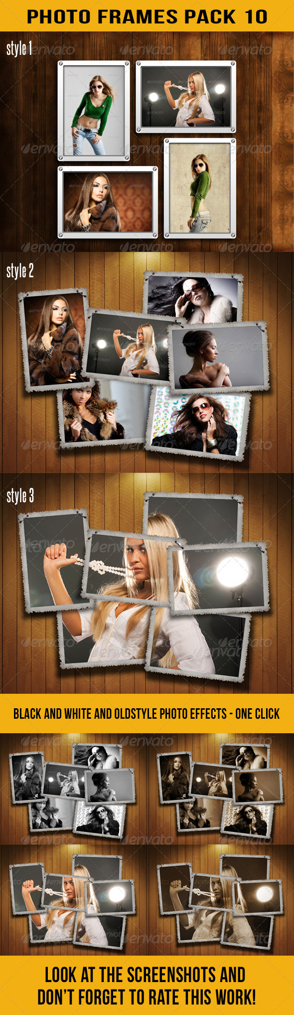 Photo Frames Pack 10 - Miscellaneous Photo Templates