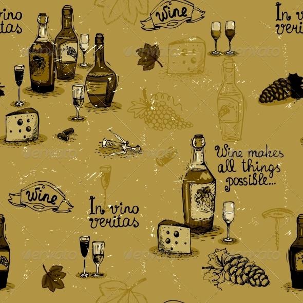 Wine Still Life Monochrome - Backgrounds Decorative