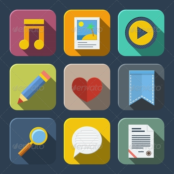 Media Icons Pack - Web Technology