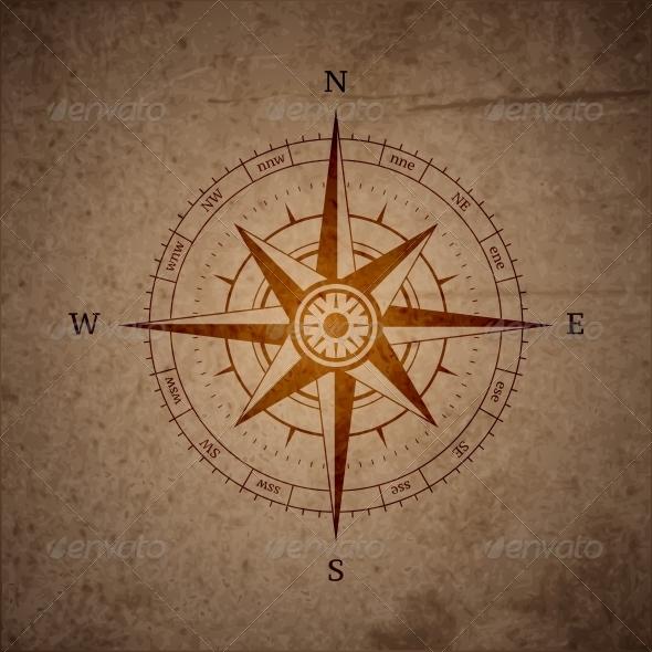 Retro Navigation Compass - Travel Conceptual