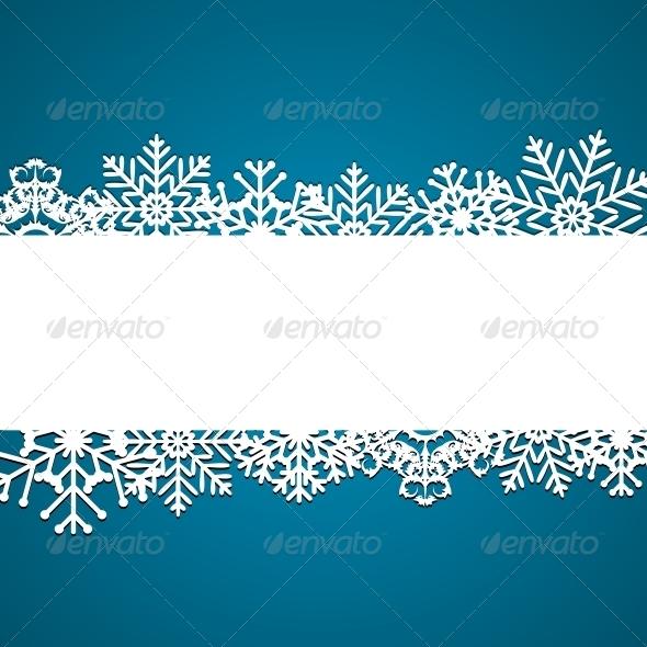 Christmas Snowflakes Background - Christmas Seasons/Holidays