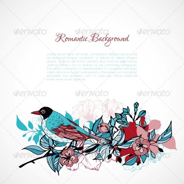 Floral Romantic Background - Backgrounds Decorative