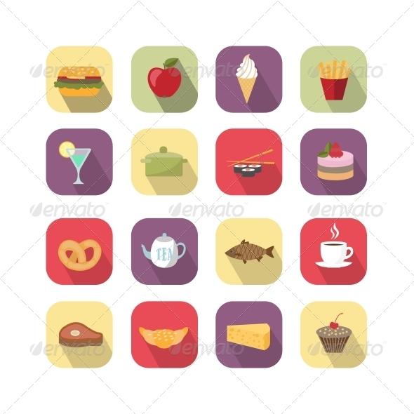 Food Design Elements - Web Elements Vectors