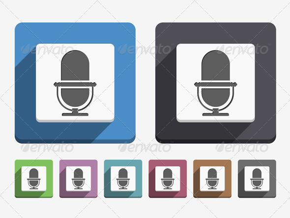 Microphone Icon - Web Elements Vectors