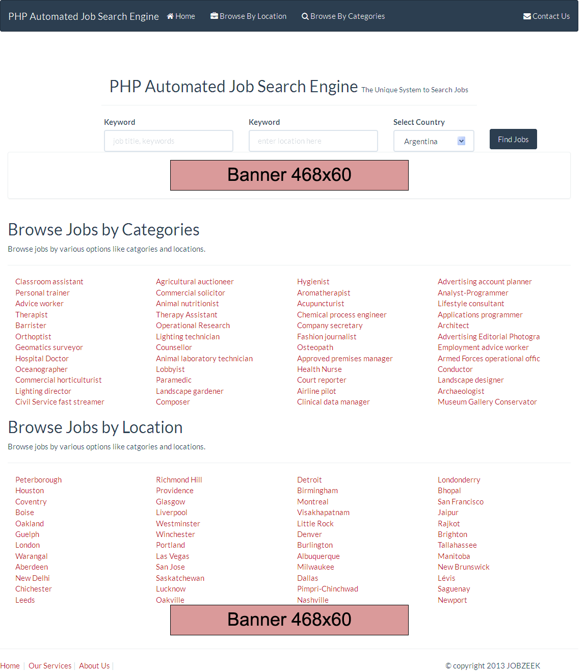 Automated Job Search Engine Script - P2P Template