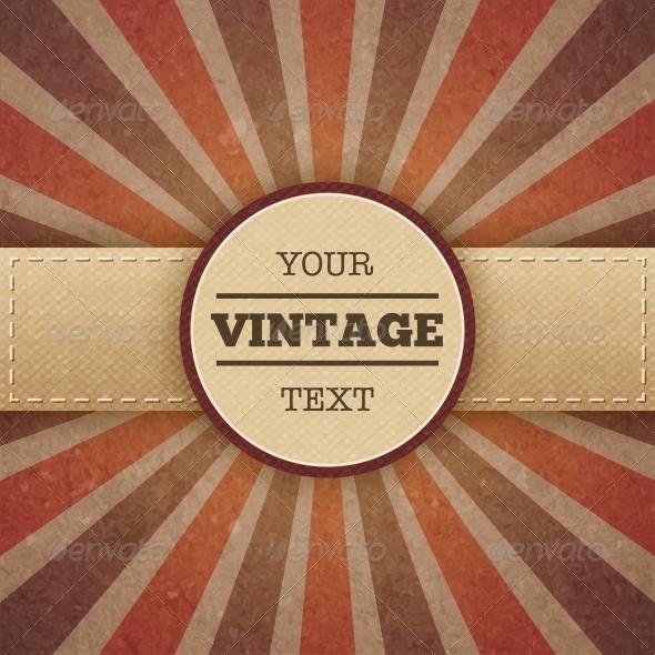 Vintage Sunburst Promo Poster - Borders Decorative