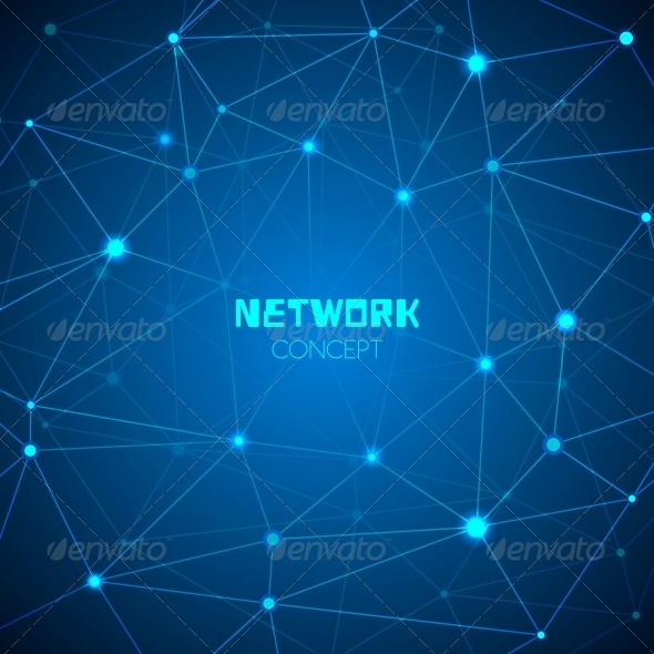Abstract Technology Network Concept - Concepts Business