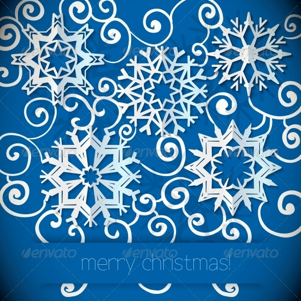 Snowflakes Background  - Patterns Decorative
