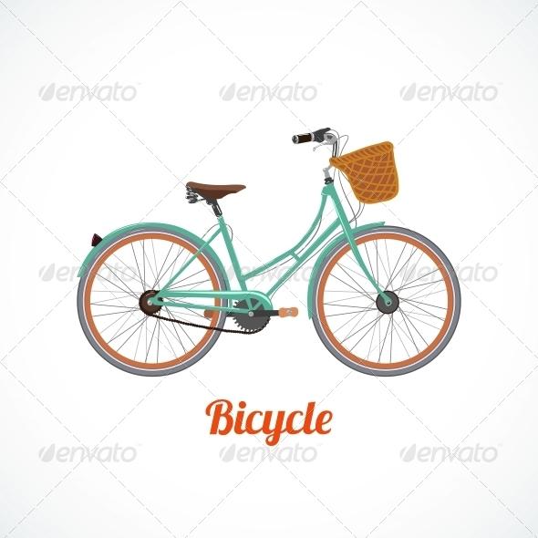 Vintage Bicycle Symbol - Decorative Symbols Decorative