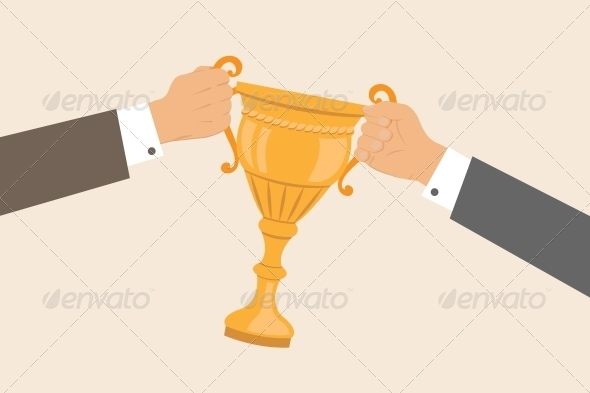 Business Hands Pulling Cup - Concepts Business