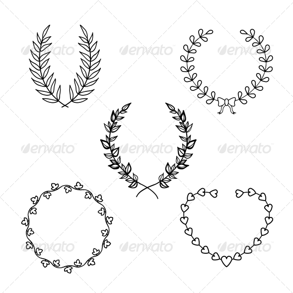 Calligraphic Wreath - Borders Decorative