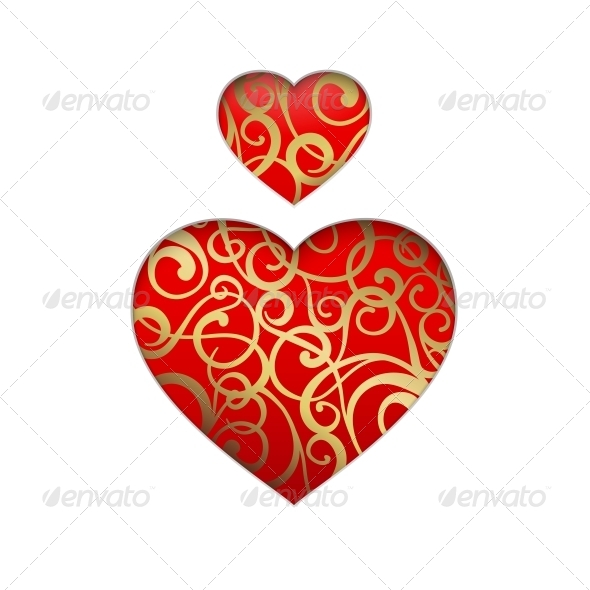 Vector Heart Symbol. - Valentines Seasons/Holidays