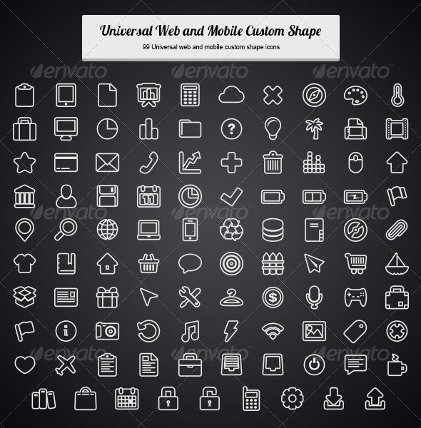 Universal Web and Mobile Custom Shape