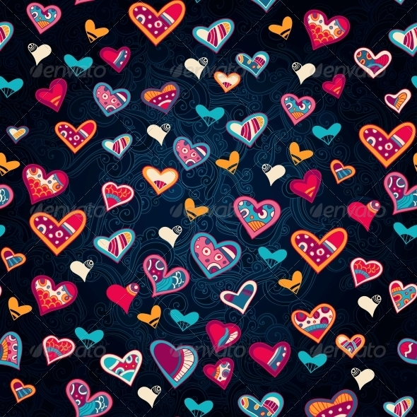 Seamless Heart Pattern for Valentine's Day - Patterns Decorative