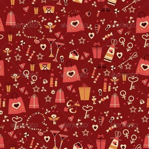 Seamless Valentine Pattern - Patterns Decorative