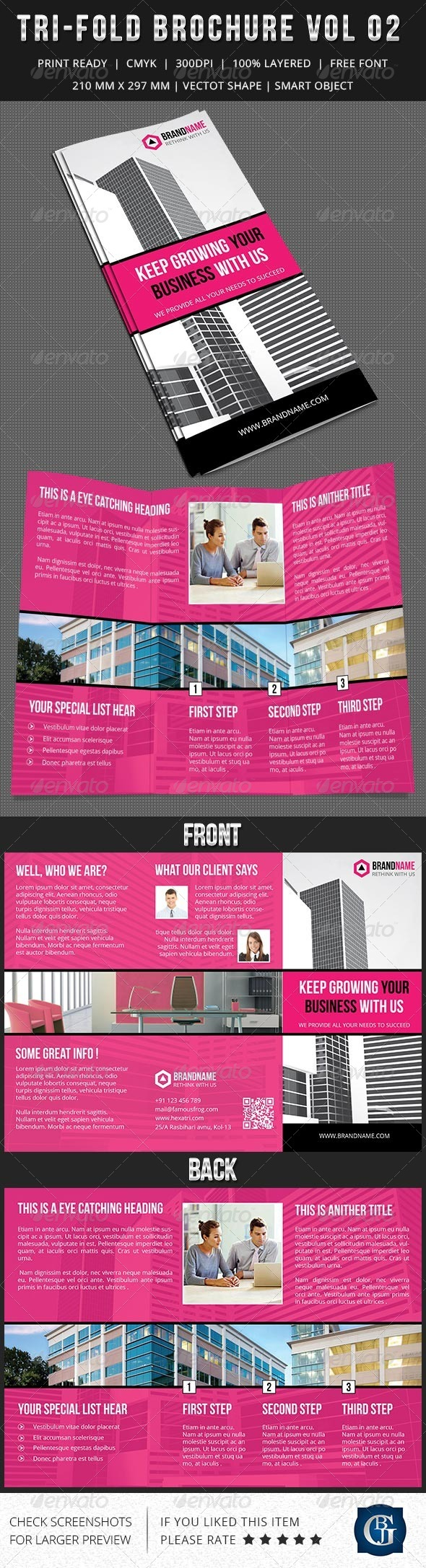 Corporate Multipurpose Trifold Brochure Vol 2 - Informational Brochures