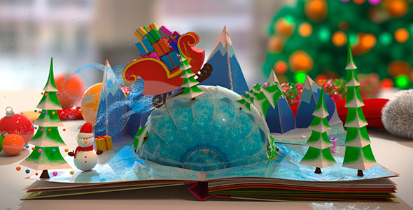 Christmas pop up book by the yoshivara videohive for Pop up storybook template