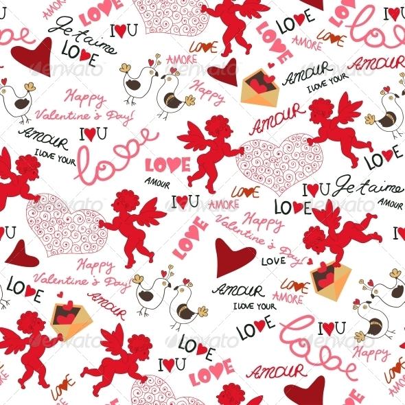 Seamless Valentine Wallpaper - Patterns Decorative
