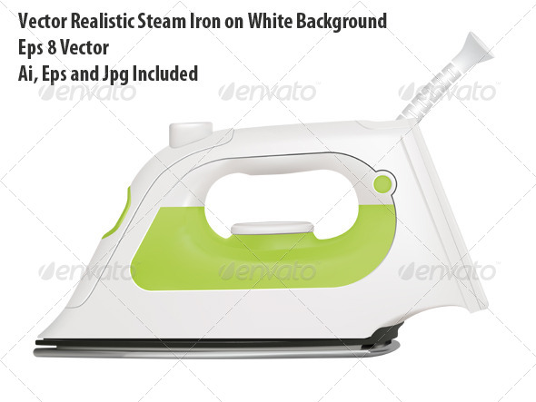 Steam Iron - Objects Vectors