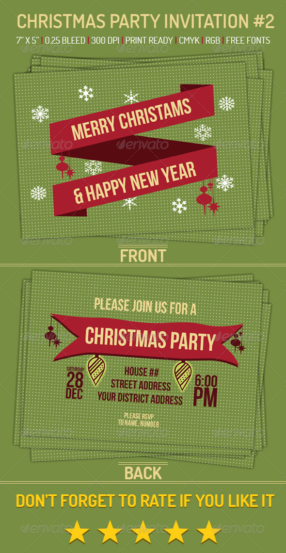 Christmas Party Invitation 2 - Holiday Greeting Cards