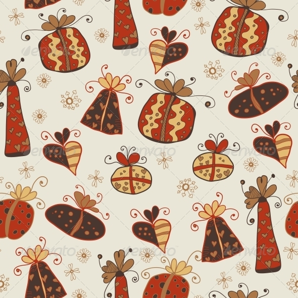 Seamless Pattern with Gifts - Patterns Decorative