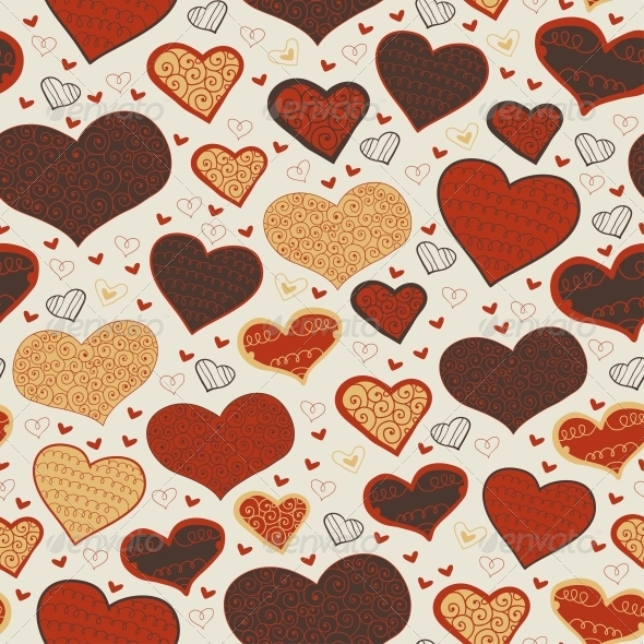 Abstract Love Seamless Background. - Patterns Decorative