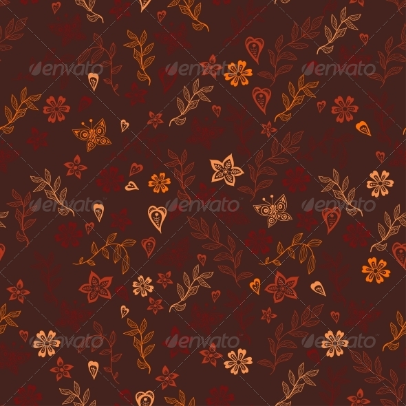 Flowers Doodle Floral Texture - Patterns Decorative